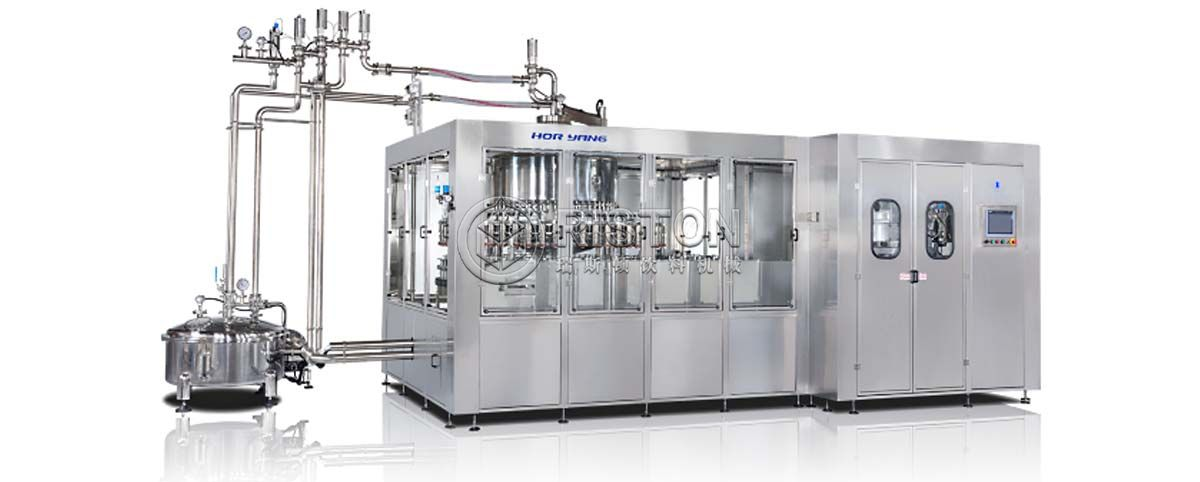 Glass Bottle Juice With Pulp Hot Filling Line